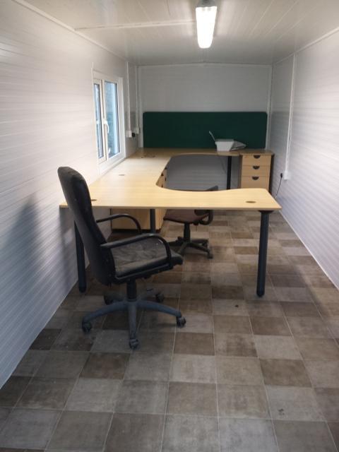 Inside an office cabin